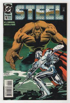 Steel by Jon Bogdanove Dc Comic Books, Comic Book Covers, Steel Dc Comics, Dc Rebirth, Dc Universe, Superman, Iron, Nerd Stuff, Reign