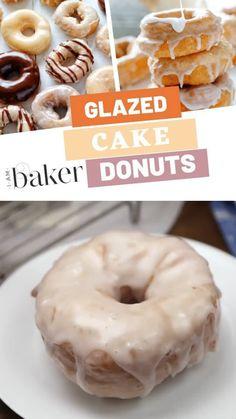 Doughnuts Recipe No Yeast, Homemade Doughnut Recipe, Baked Donut Recipes, Baking Recipes, Baked Donuts, Keto Recipes, Fried Cake Doughnut Recipe, Donut Recipe No Yeast Baked, Duck Donuts Recipe