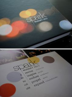 Design. I love the theme. I love the table of contents. I love it all...can we have it? Bailey Anderson.
