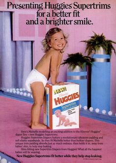 Back in the when disposable diapers were still somewhat of a novelty, the biggest brands were Pampers, Huggies & Luvs. Here's a look back at these vintage disposable diaper brands! Luvs Diapers, Huggies Diapers, Cloth Diapers, Party Vintage, Vintage Ads, Couches, Diaper Brands, Diaper Sizes, Plastic Pants