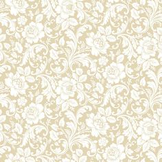 Shop allen + roth Cream Strippable Non-Woven Paper Prepasted Classic Wallpaper at Lowes.com