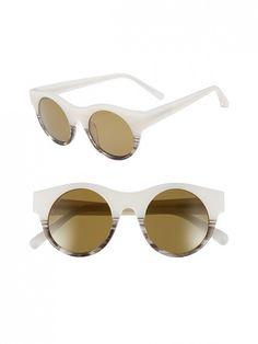 0091934cba Elizabeth and James Olive 47mm Polarized Round Sunglasses Cool Sunglasses