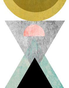 Resumen de la impresión del arte arte imprimible por exileprints