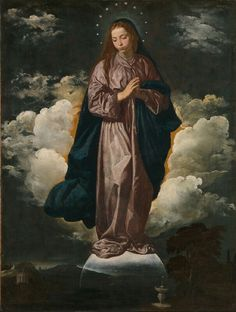 Immaculate Conception by Diego Velazquez at National Gallery, London