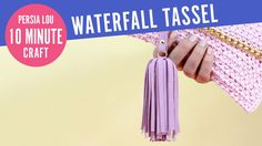 How to Make Leather/Suede Waterfall Tassel Keychains