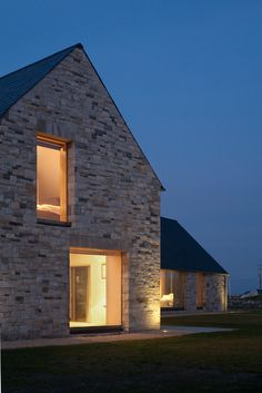 House in Blacksod Bay by Tierney Haines Architects - modern stone architecture Architecture Design, Architecture Renovation, Residential Architecture, Landscape Architecture, Landscape Design, Modern Barn, Modern Farmhouse, Modern Rustic, Houses In Ireland