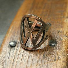 vw beetle ring made out of a key.. looks JUST like my car key! OBSESSED.