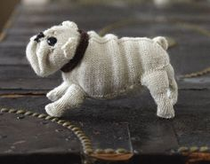English Bulldog Free Knitting Pattern and more dog knitting patterns
