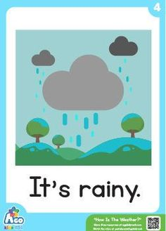 Need free weather flashcards for your next English class? Zoo Phonics, Teaching Phonics, Preschool Learning Activities, English Lessons For Kids, English Worksheets For Kids, English Activities, Preschool Weather Chart, Teaching Weather, Flashcards For Toddlers