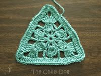 Granny Squares are great but that's no reason not to try a triangle crochet motif.