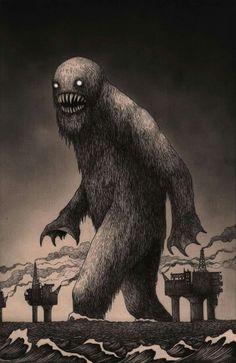 John Kenn - Post It Illustration - Monster