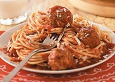 This authentic Italian recipe was given to me by my cousin's wife, who is from Italy. It's so hearty and satisfying, everyone's eyes light up when I tell my family that we're having this for supper! —Etta Winter, Pavillion, New York Meatball Recipes, Beef Recipes, Cooking Recipes, Cooking Tips, Recipies, Italian Dishes, Italian Recipes, Italian Spaghetti And Meatballs, Spaghetti Sauce
