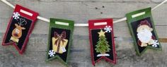 Christmas Medly Bunting by SteamTrunkCraftWorks on Etsy