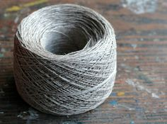 Linen yarn thread  one ball  natural linen by namolio on Etsy, $5.85