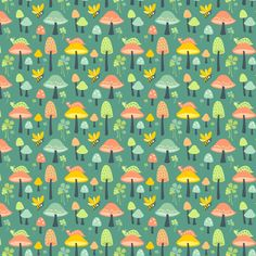 Sweet Shrooms: Jade fabric by sheri_mcculley on Spoonflower - custom fabric
