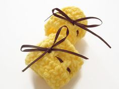 crochet napkin rings in bright yellow4 by ShopatLilys on Etsy, $6.95