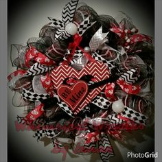 Be Mine Valentine's day wreath! Only $65   Large, fun and whimsical door wreath. Lots of ribbons and bulbs and a fun sign. Your door will surely stand out with this gorgeous wreath.  One of a kind! This is ready to go and will ship within 3-5 days.