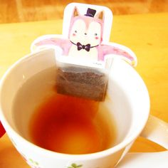 Sushi cat teabag: Your daily packaging smile : ) PD