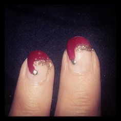 Own version from christmas nails.. Still need some practise. #nails #christmas
