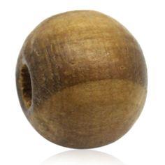 "Wholesale Lots Coffee Stripe Round Wood Beads 10mm 3 8"" | eBay"