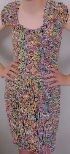 Loom Band Dress Custom Made High Quality Multi Colored Hand Made. Any Sizes
