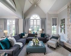 52 Ideas Apartment Living Room Grey Couch Basements For 2019 Livingroom Layout, Apartment Living, Living Room Designs, Room Layout, Apartment Living Room, Couches Living Room, Living Decor, Living Room Grey, Teal Living Rooms
