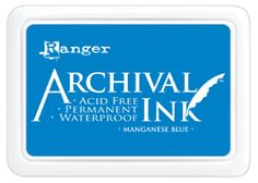 Archival Inks™ provide lasting stamping results that are permanent on many surfaces. Get a crisp image that doesn't bleed over water-based inks and markers, acrylic paint, water colors, Adirondack® Alcohol Ink or Perfect Pearls™ pigment powders. Available in 24 vibrant shades in a standard size stamp pad.