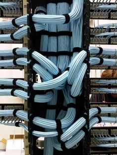 Cable management inside a wire manager.