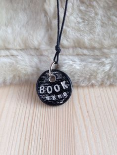 BOOK NERD necklace - inspirational word jewelry