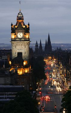 Balmoral Hotel Clock Tower, Edinburgh, Scotland.