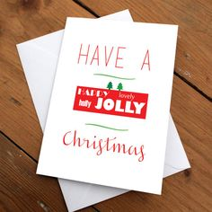 Xmas Card Package  pk of 6 by CherryOnTopDsgns on Etsy