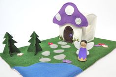 Fairy Travel Play Mat for On-The-Go Imagination. $40.00, via Etsy.