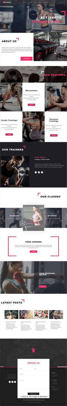 Activanto is clean and modern design 3in1 responsive #WordPress theme for professional #gym and #fitness centers website download click on image.
