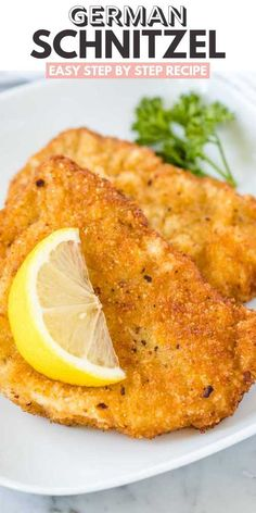 Schnitzel pan-fried to golden perfection with a crispy breading just like at your favorite German restaurant! This easy step by step recipe shows you how easy it is to make the best Pork or Veal Schnitzel at home. Veal Schnitzel, German Schnitzel, Veal Cutlet, Chicken Schnitzel, Wiener Schnitzel, Pork Cutlets, Pork Recipes, Chicken Recipes, Cooking Recipes