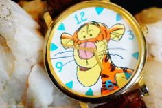 Winnie The Pooh- Tigger Watch by Timex Nice Crystal Brown Leather Band