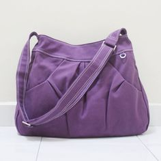 Kinies on etsy - purple hoodie purse, cotton canvas 27US, from Malaysia