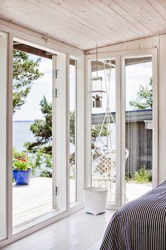 utsikt, hav, glas, fönster, friggebod