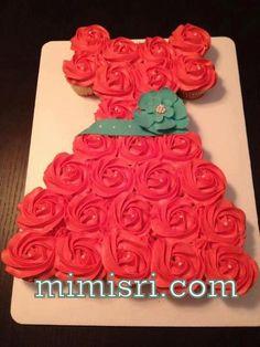bridal shower cupcake dress - Google Search