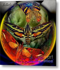 Butterfly Effect Blue Planet Metal Print By Joseph Mosley