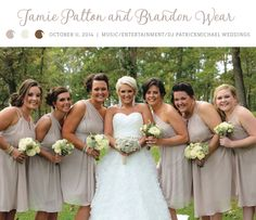 Love these short cream colored bridesmaid dresses! View more from this elegant Knoxville wedding with champagne details! Music by @funweddingdj, formalwear by @savviknoxville, video by Milestone Pictures, rentals by Anderson Rental, photos by Kristen Calhoun | The Pink Bride www.thepinkbride.com