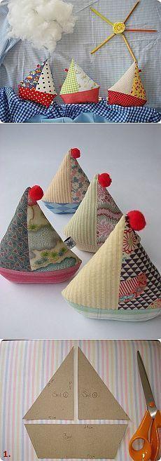 Los patrones de peluches para niños. Barco / Tilda, juguetes de peluche con sus propias manos, el patrón / KluKlu. Artesanía - Partida, quilling, punto de cruz, de tejer