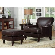 Buy Discount Furnishings Norton Chair and Ottoman
