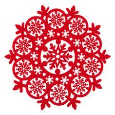 Салфетка под прибор из фетра со штампованной отделкой - Стол - коллекция - Рождество   Zara Home Россия / Russia