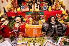 altars for day of the dead | Offerings Mexican Day of the Dead or Dia de los Muertos altar.