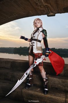 Final Fantasy XIII - Lightning by vaxzone Check out http://hotcosplaychicks.tumblr.com for more awesome cosplay