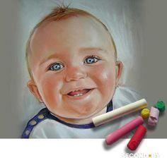 Детский портрет пастелью. - Hledat Googlem