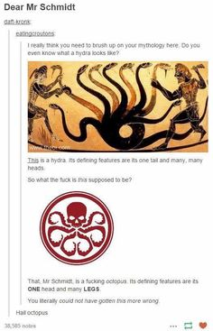 Except each of an octopus legs have their own brain even though they are controlled by the one. So...yea. Also have you heard of hive?