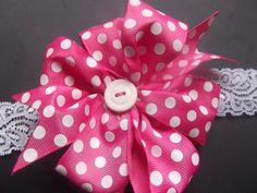 Children's Ribbon Hair Bow Headband. $13.00, via Etsy.