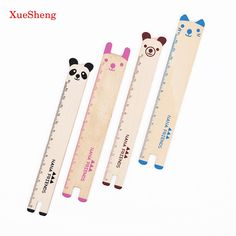 1.49$  Watch more here - 4 PCS Cute Animal Wooden Ruler Student Prizes Korea Creative Stationery 15cm Rulers For School Supplies   #aliexpress