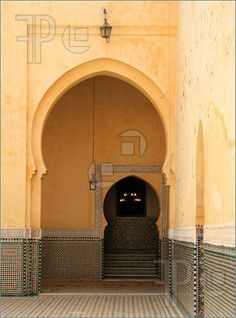 Door in an ancient mosque in Meknes, Morocco (featurepics.com)